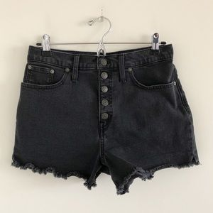 🆕 Madewell High Rise Faded Black Button Fly Short
